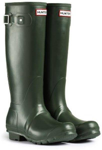 Hunter Original Tall Rain Boots In Green For Men Dark