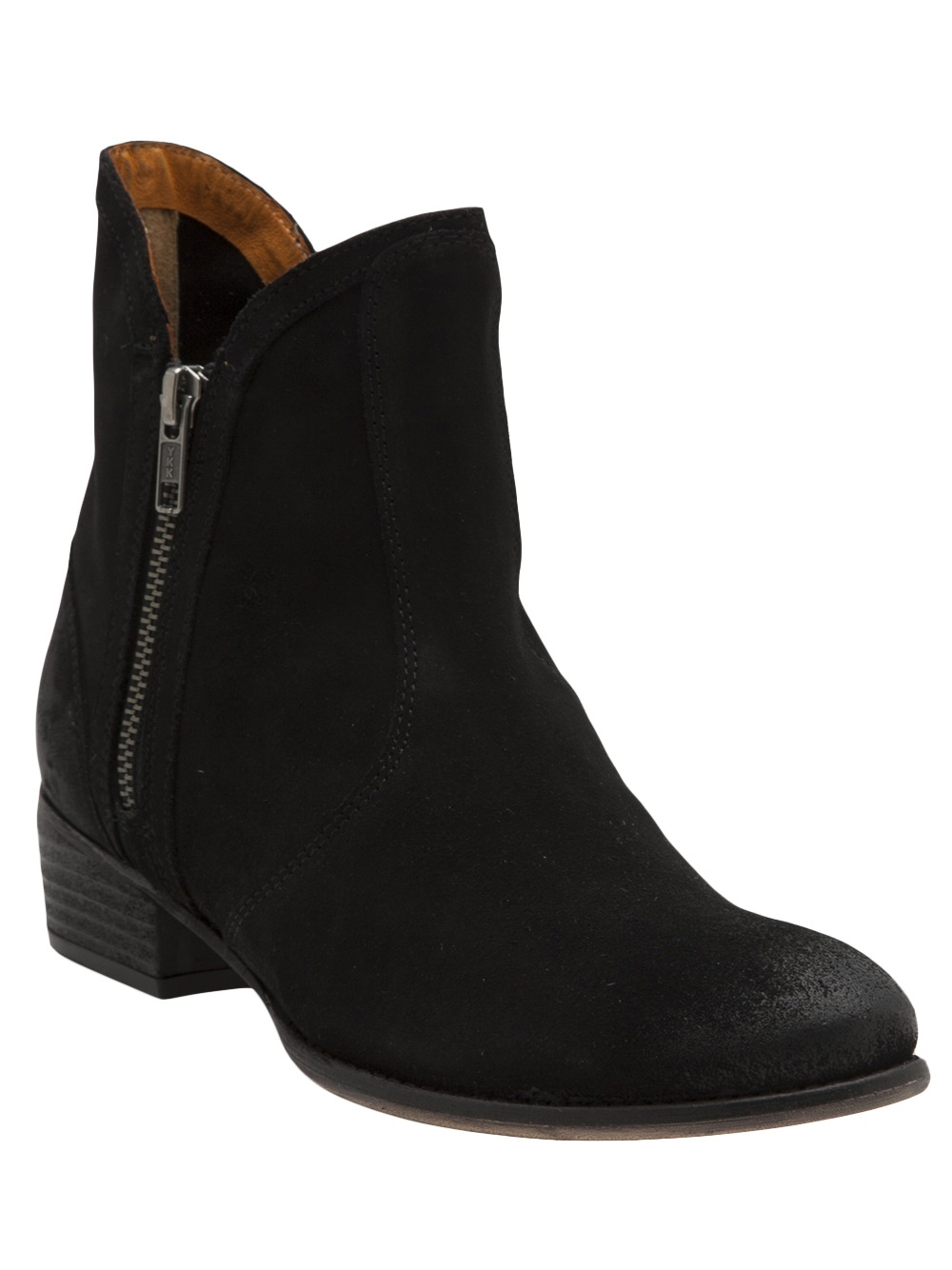 seychelles chunky heel ankle boot in blue lyst