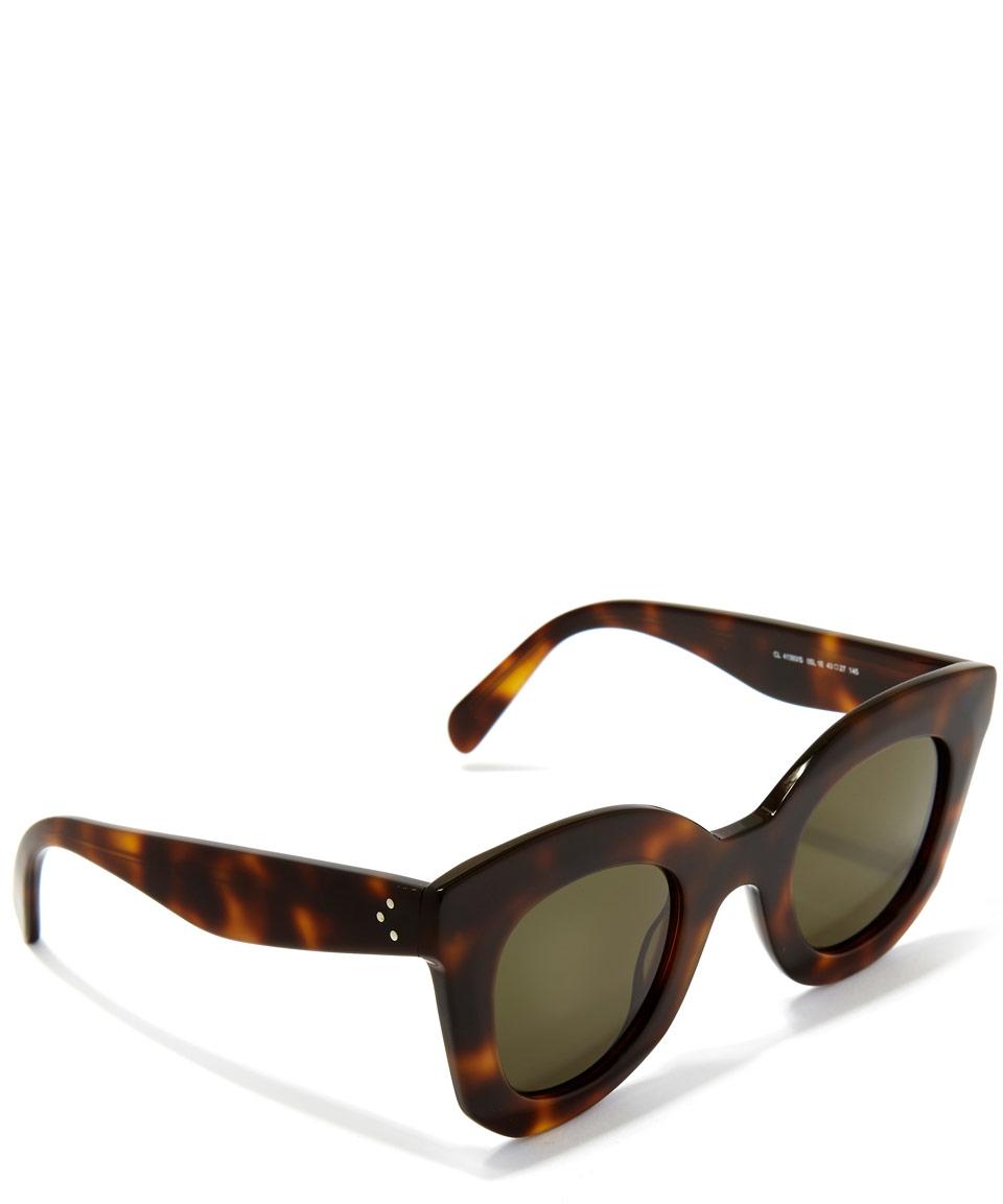 30eef823be46 Céline Havana Brown Marta Small Sunglasses in Brown - Lyst