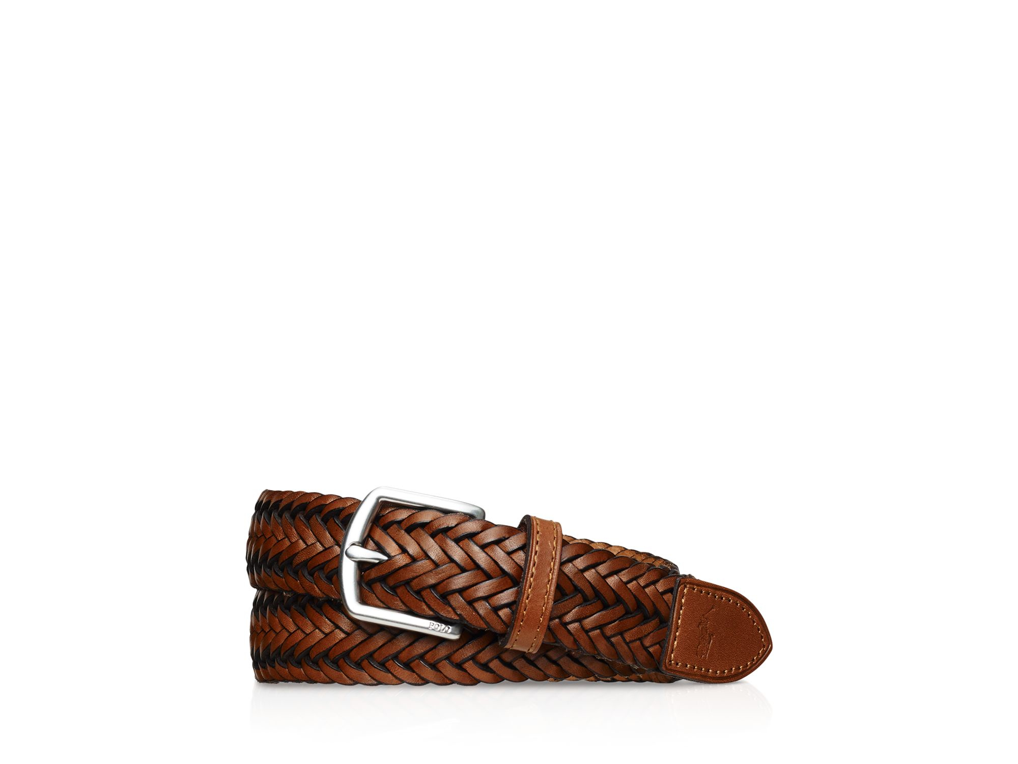 Lyst Polo Ralph Lauren Braided Leather Belt In Brown For Men
