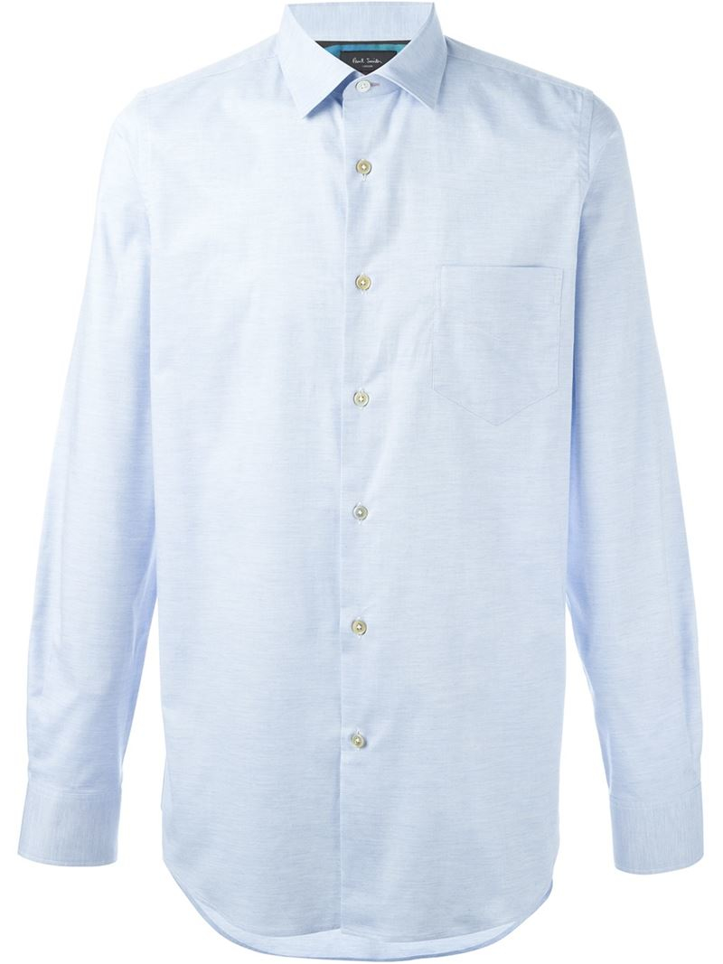 Paul Smith Classic Button Down Shirt In Blue For Men Lyst