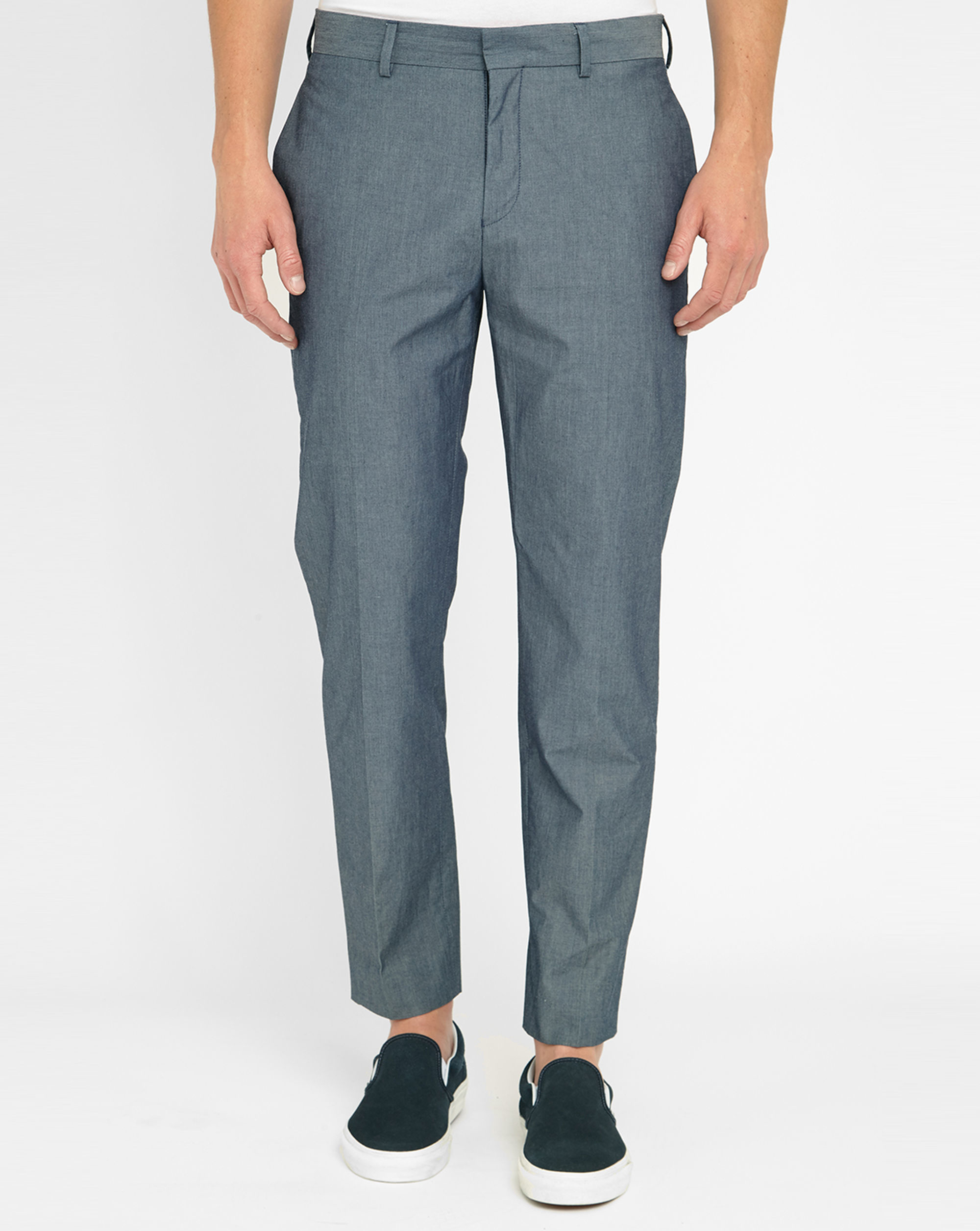 Acne Aron Chambray Trousers in Blue for Men | Lyst