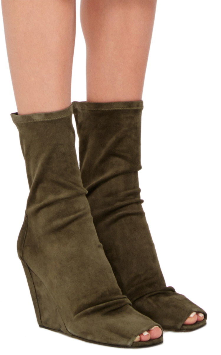 Rick Owens open toe wedge booties discount low price fee shipping cheap price top quality tvVR2