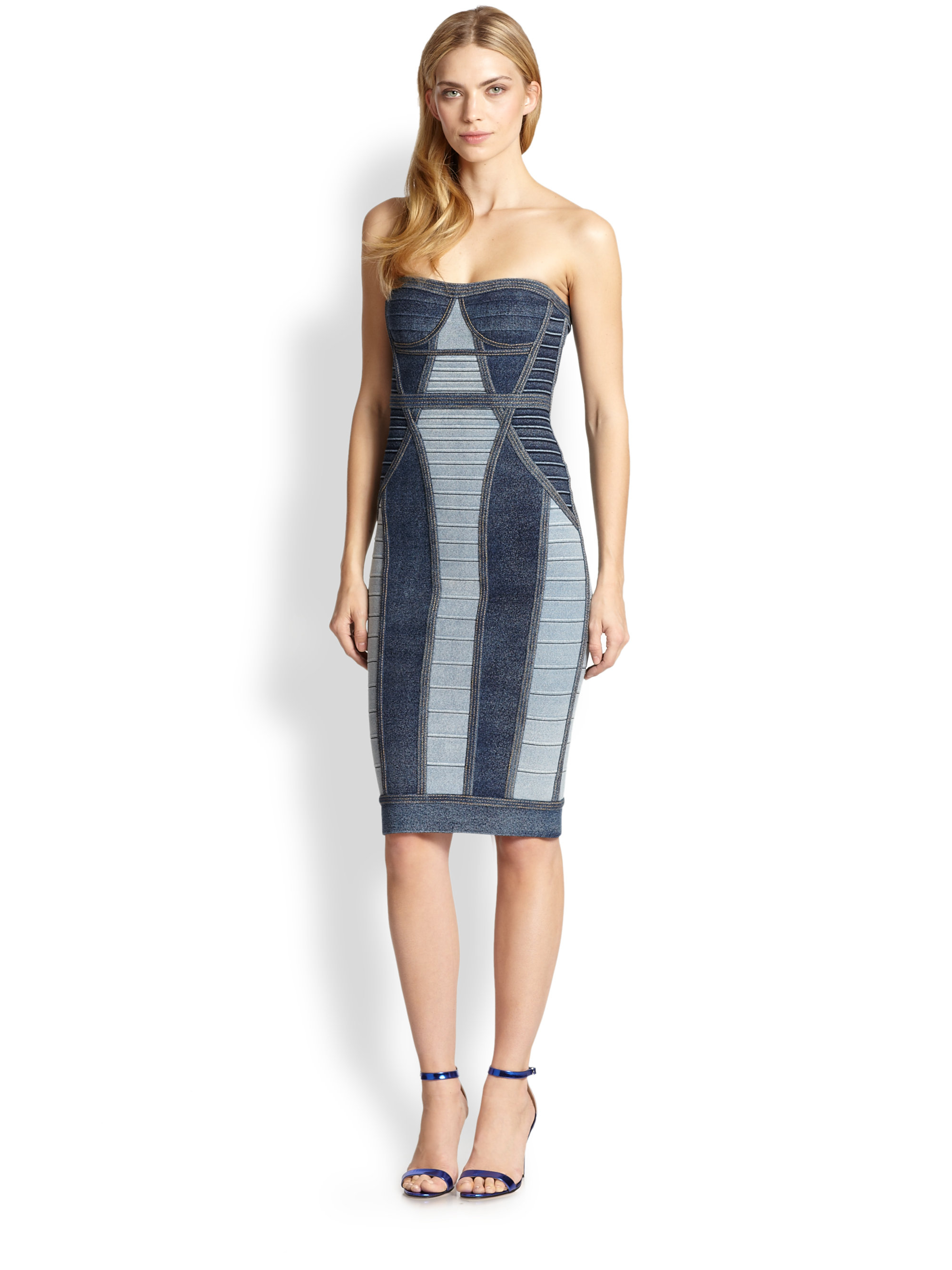 0cf69f11132 Gallery. Previously sold at  Saks Fifth Avenue · Women s Herve Leger Bandage  Women s Green Satin Dresses Women s Tank ...