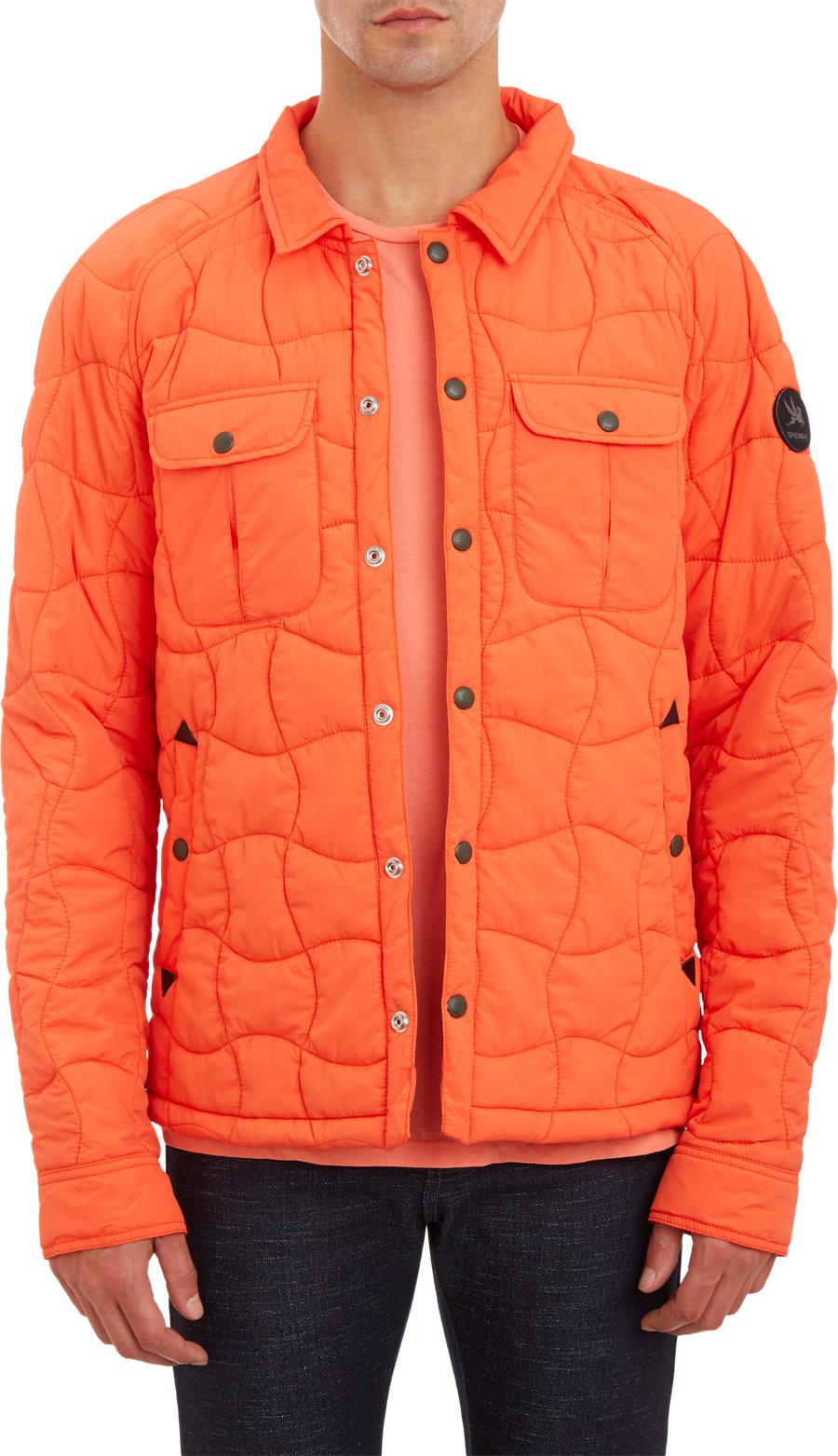 Spiewak Wildcat Quilted Shirt Jacket In Orange For Men Lyst