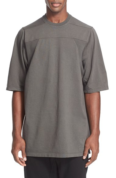 oversized Jumbo T-shirt - Grey Rick Owens Under 70 Dollars Cheap Price Discount Authentic Shop Offer Sale 100% Guaranteed 4Unq2Qhr