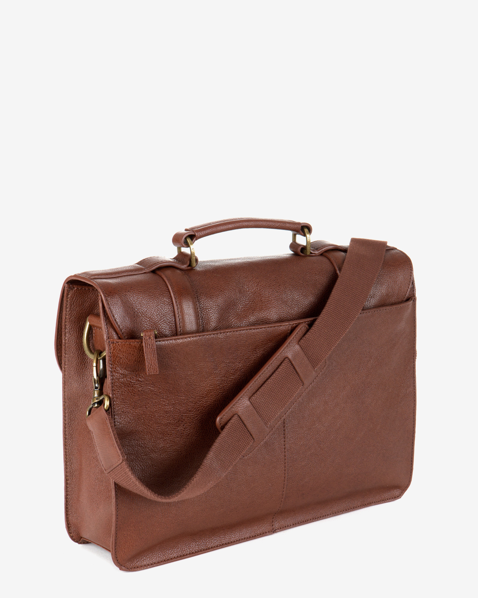 Ted Baker Nubran Leather Briefcase In Brown For Men Lyst