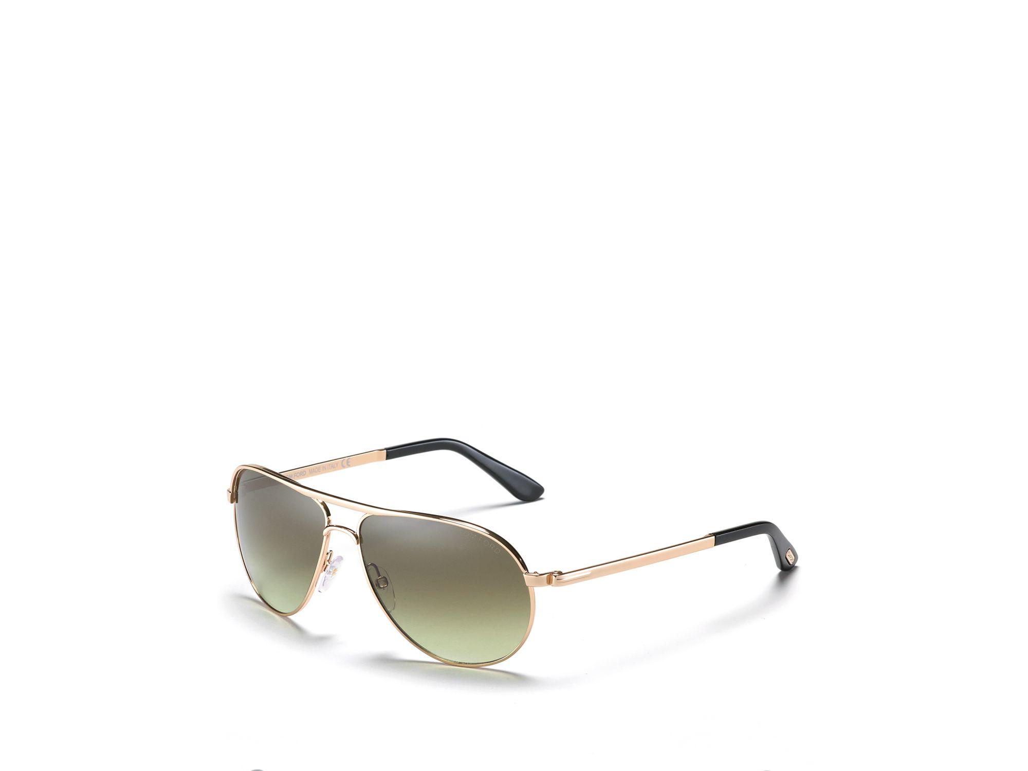 5c24ad46ca Tom Ford Marko Aviator Shiny Rose Gold Sunglasses