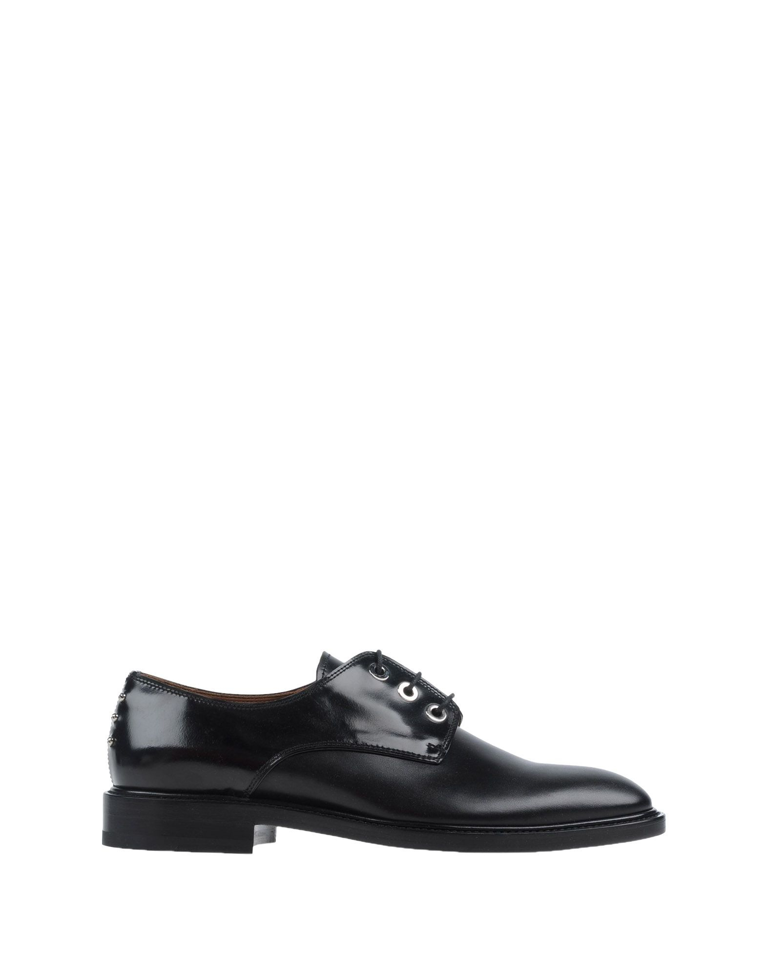 givenchy leather studded derby shoes in black for lyst