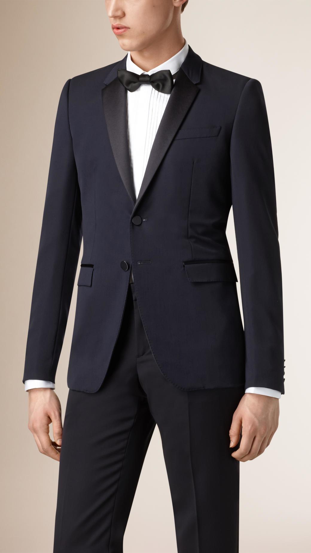 Lyst Burberry Satin Lapel Virgin Wool Tuxedo Jacket In