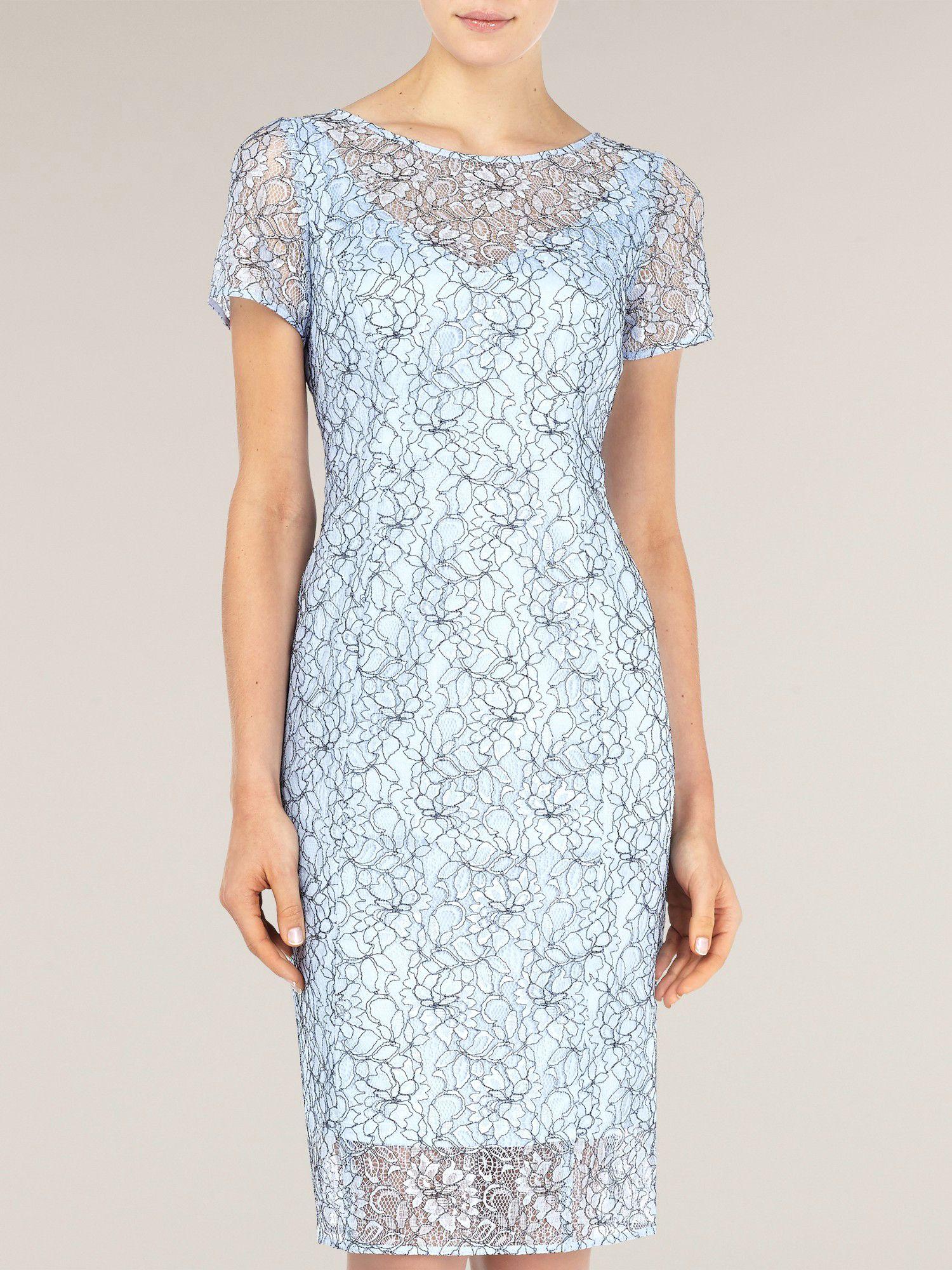 alexon light blue lace dress in blue lyst