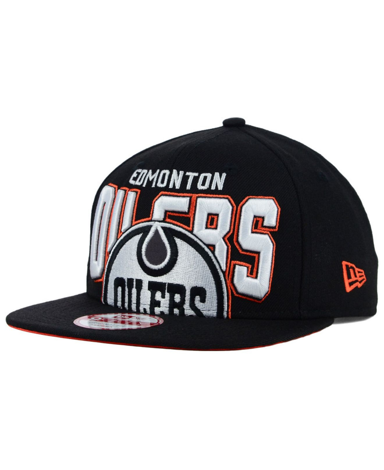 online retailer 4b0b2 5b036 Lyst - KTZ Edmonton Oilers Bold Statement 9fifty Cap in Black for Men