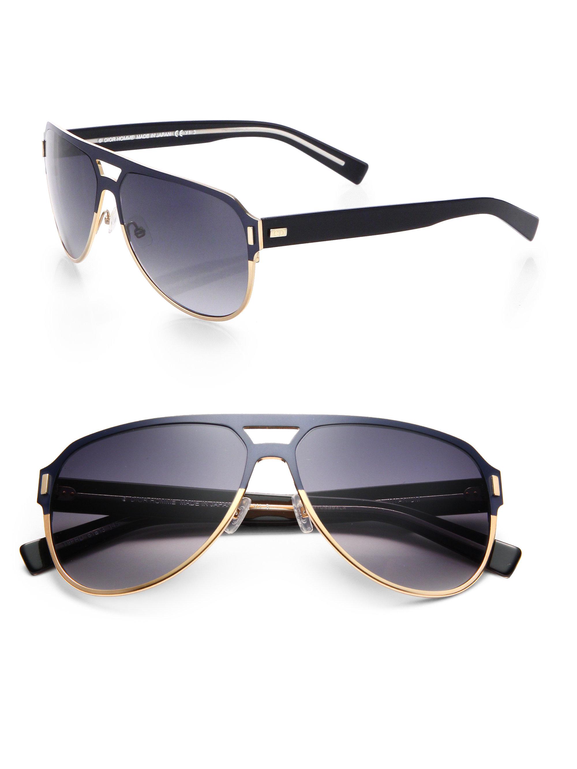 Dior Black Tie Sunglasses  dior homme black tie anium aviator sunglasses in blue for men