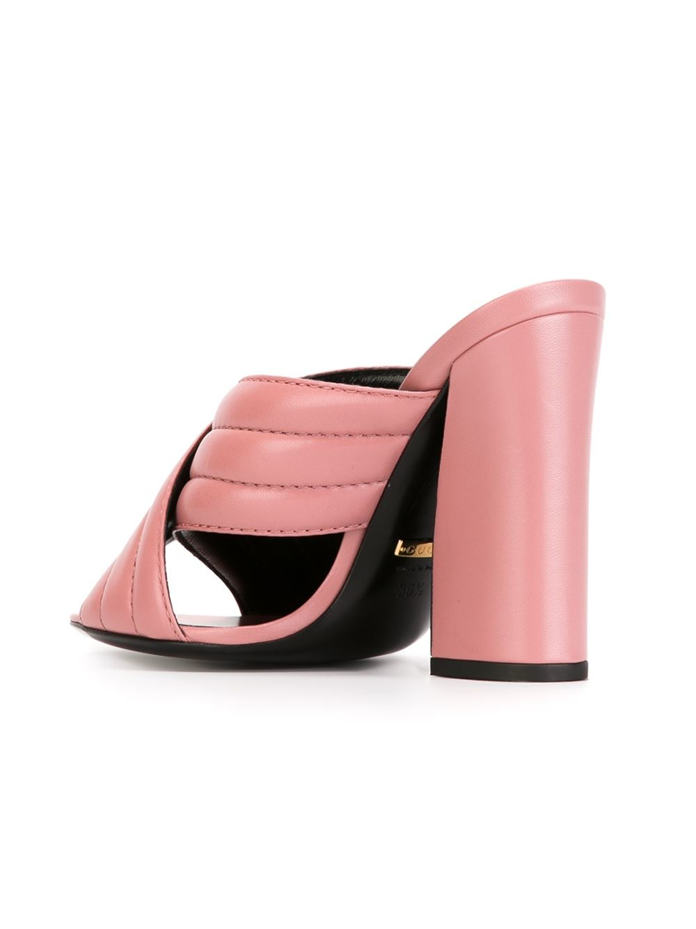 Lyst - Gucci Quilted Sandals in Pink
