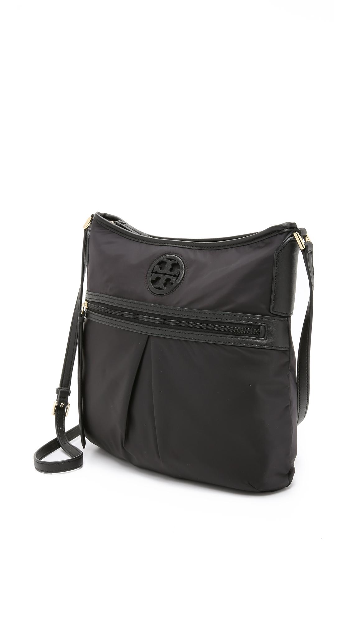 38c55d565e8 Lyst - Tory Burch Nylon Swingpack Bag - Black in Black