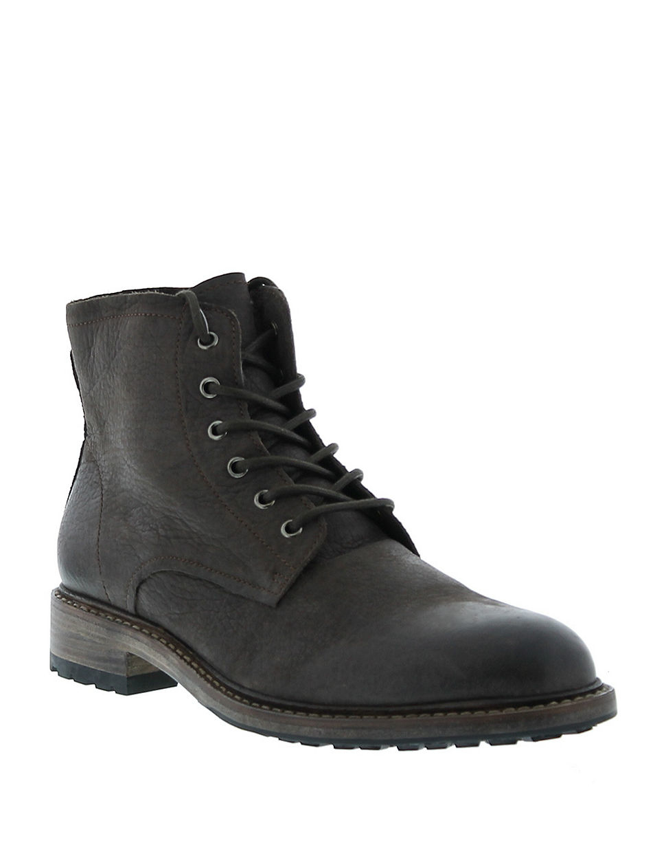 blackstone leather lace up boots in brown for lyst