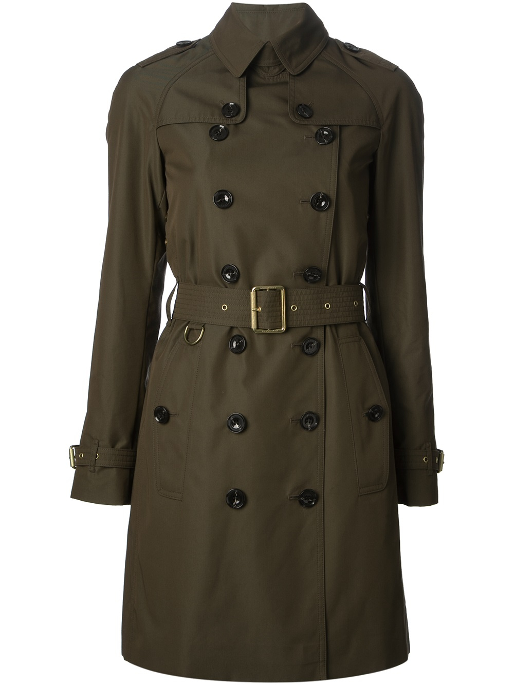 burberry brit classic trench coat in green lyst. Black Bedroom Furniture Sets. Home Design Ideas
