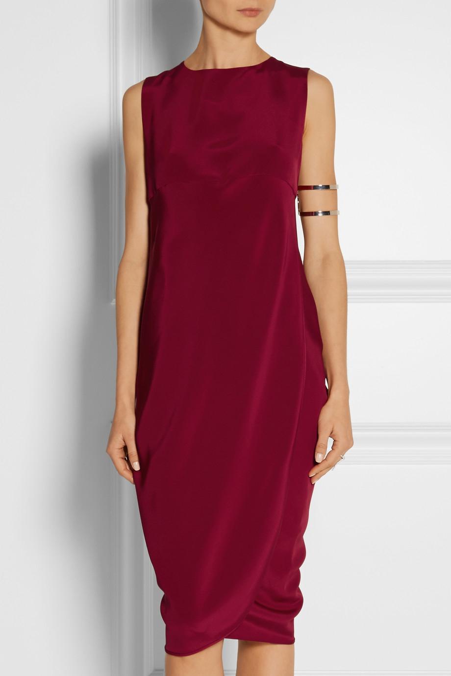 Zero + maria cornejo Kali Silk Crepe De Chine Dress in Red ...
