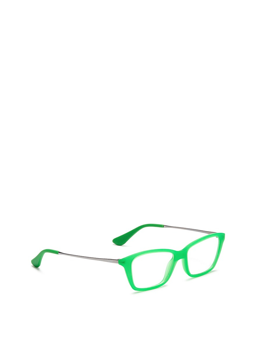 Green Frame Ray Ban Glasses : Ray-ban Matte Acetate Frame Junior Optical Glasses in ...