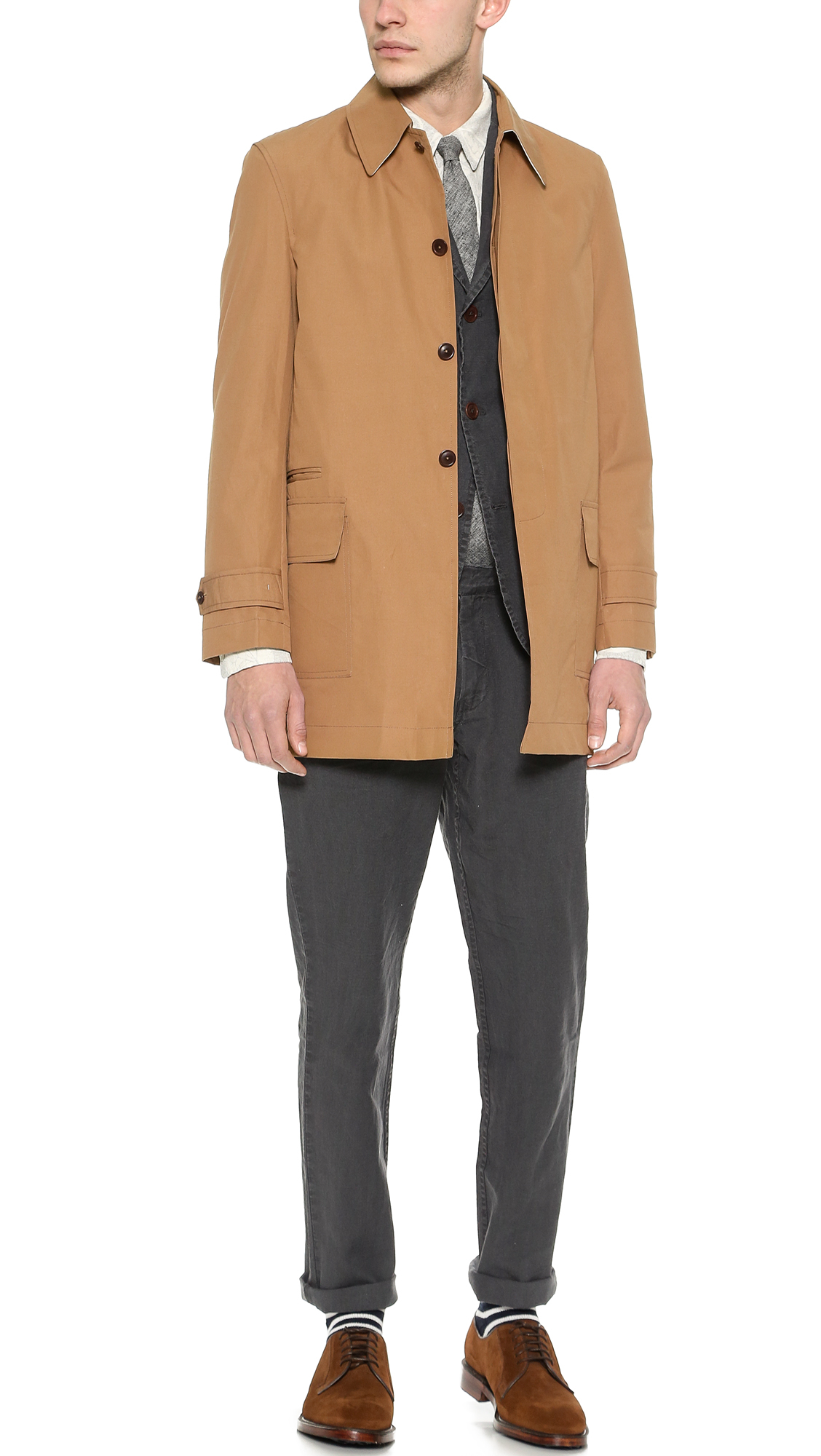 Brooklyn tailors Weatherproof English Cotton Raincoat in Brown for ...