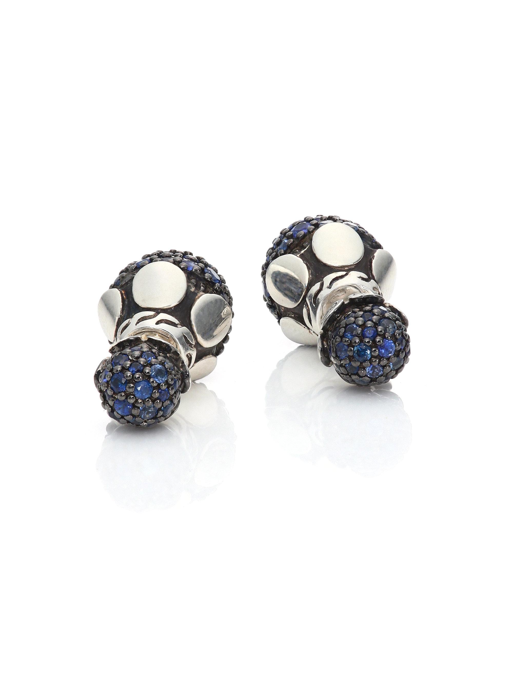 lyst john hardy dot blue sapphire sterling silver. Black Bedroom Furniture Sets. Home Design Ideas