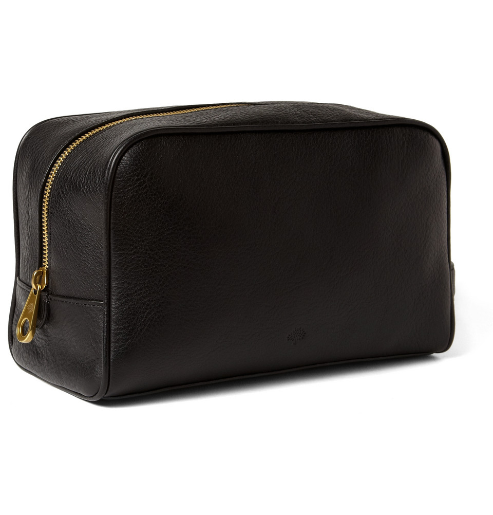 Lyst Mulberry Full Grain Leather Wash Bag In Black For Men