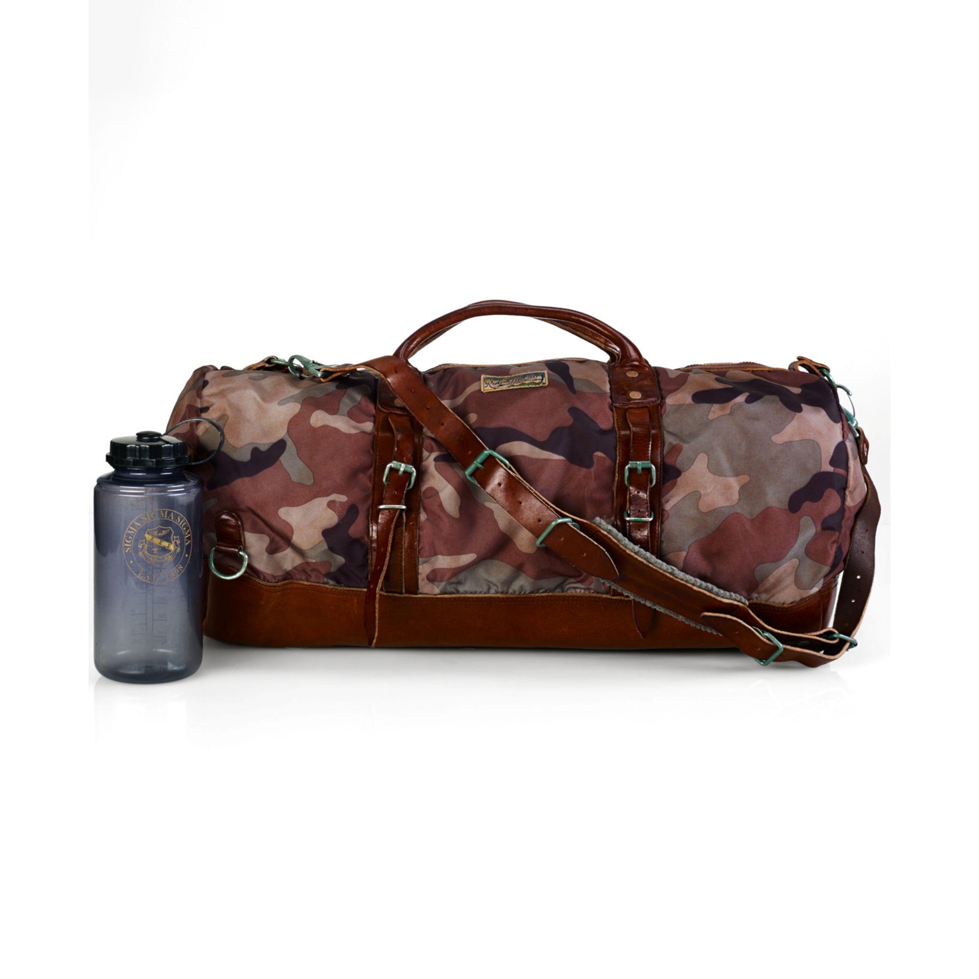 Lyst - Ralph Lauren Polo Camo Nylon Duffel Bag in Brown for Men e71cdf5d9dfb0