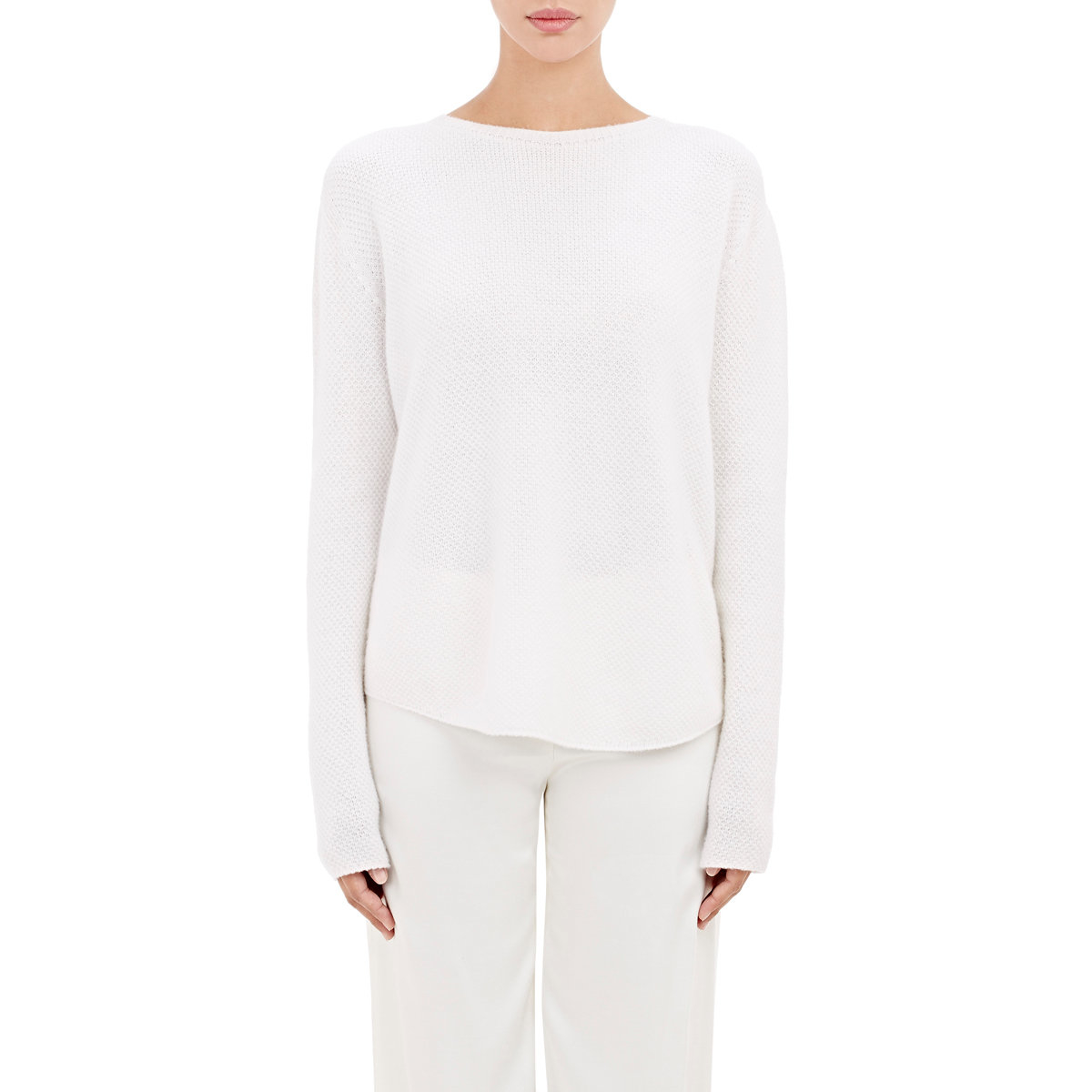 62e0173c2eb292 Lyst - Helmut Lang Women s Cashmere Sweater in White