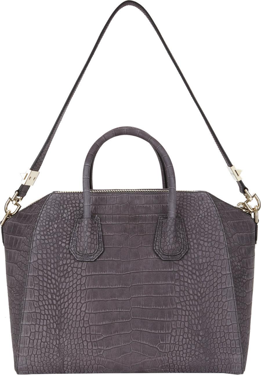 70798df32b70 ... Special Price Womens Bags - Black Givenchy Antigona Mini-Duffel Bag -  505203252 outlet store  Givenchy Antigona Medium Crocodile-Embossed Duffel  in Gray ...