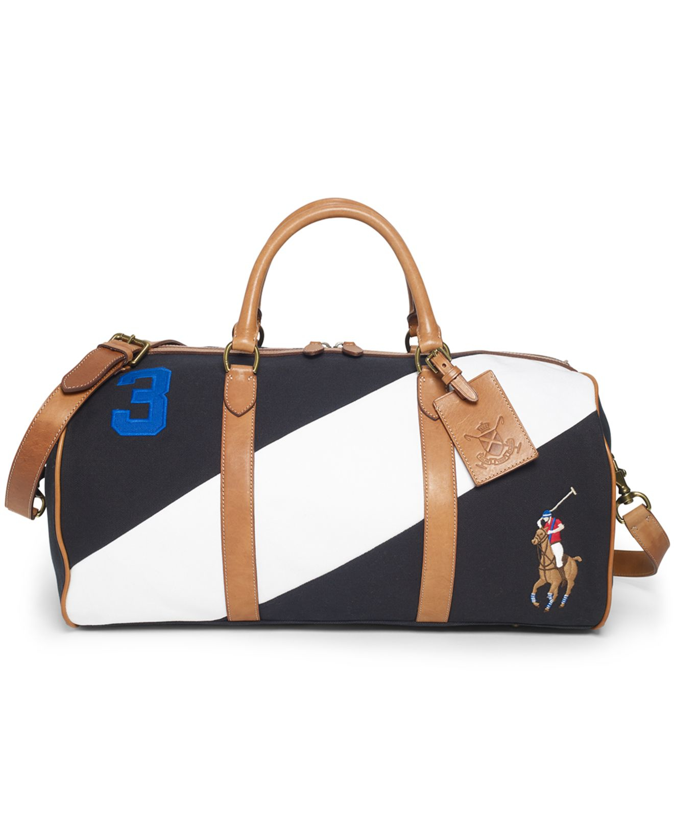 169a67889268 Lyst - Polo Ralph Lauren Canvas Black Watch Leather Detail Duffel ...