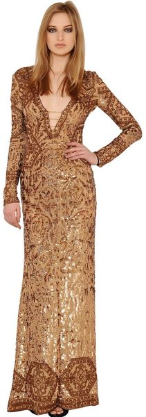 Uk Emilio Pucci Gold Sequins Silk Tulle Dress Dress in Gold Emilio Pucci
