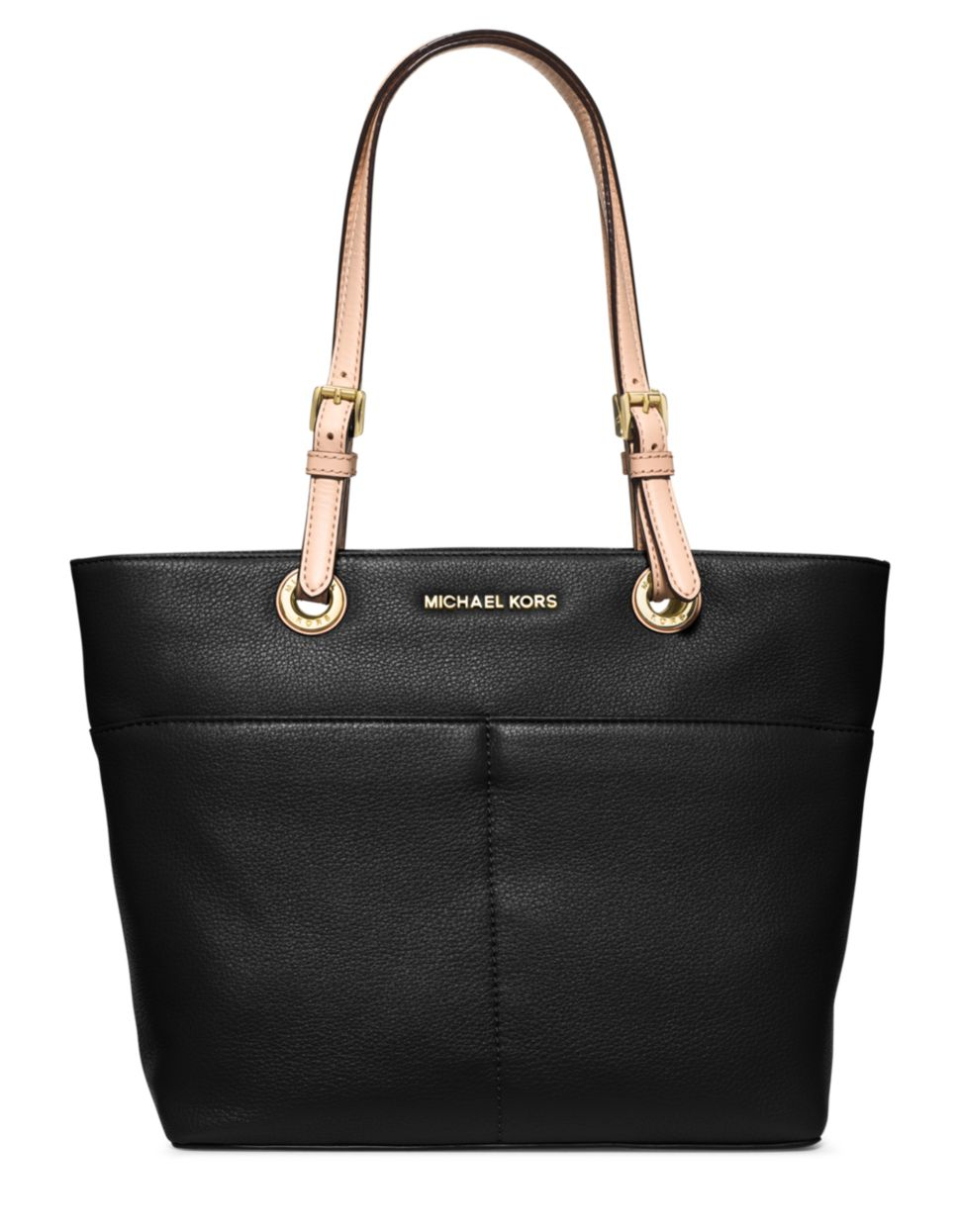 michael michael kors bedford leather tote in black lyst. Black Bedroom Furniture Sets. Home Design Ideas