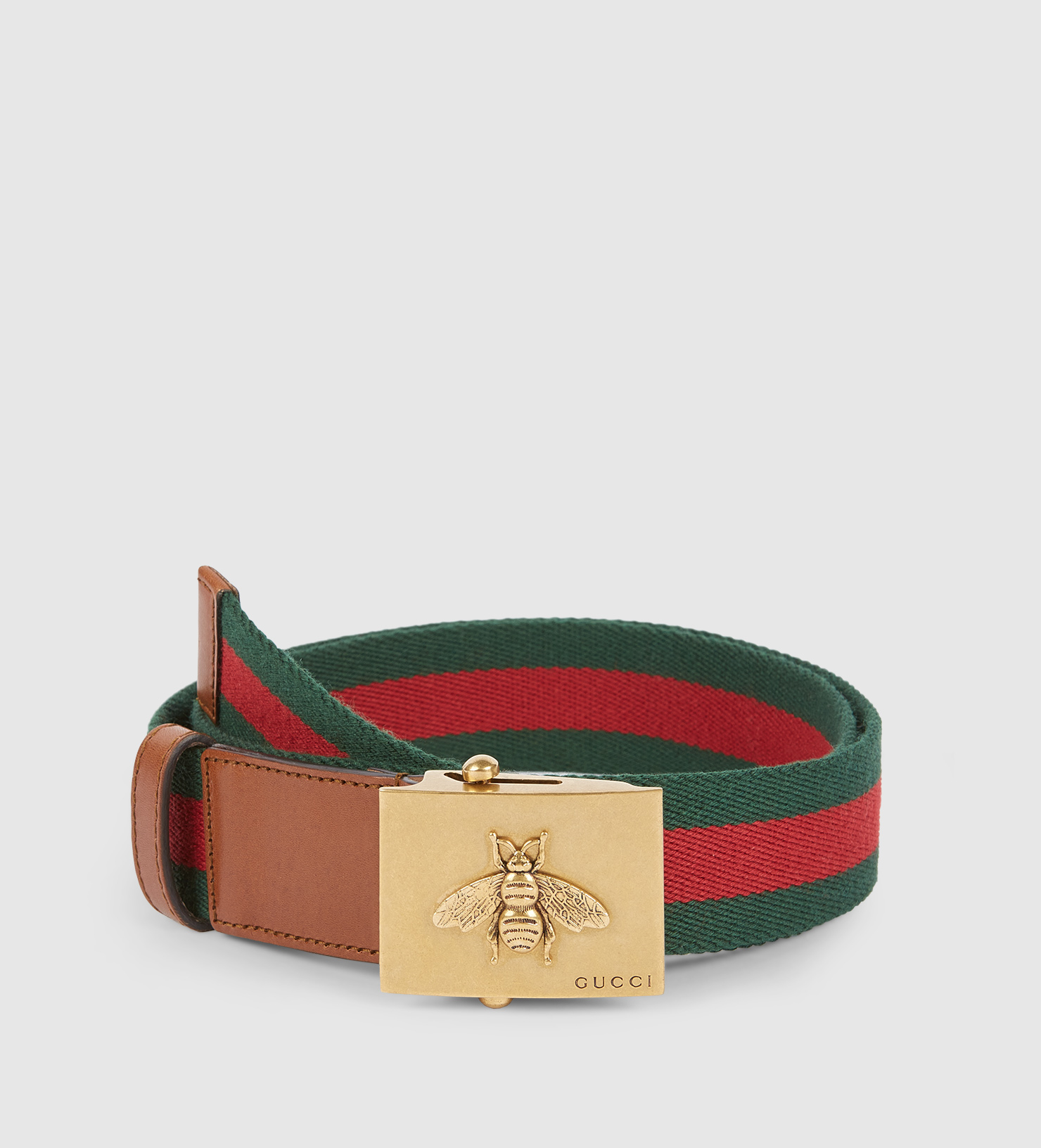 03826541724 Gucci Canvas Web Belt With Bee Buckle - Lyst