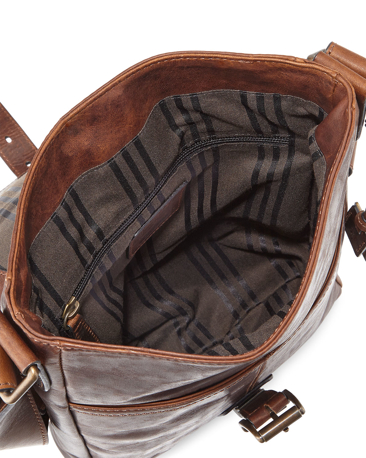 Lyst - Frye Logan Small Leather Messenger Bag in Brown for Men cb7704f872e62