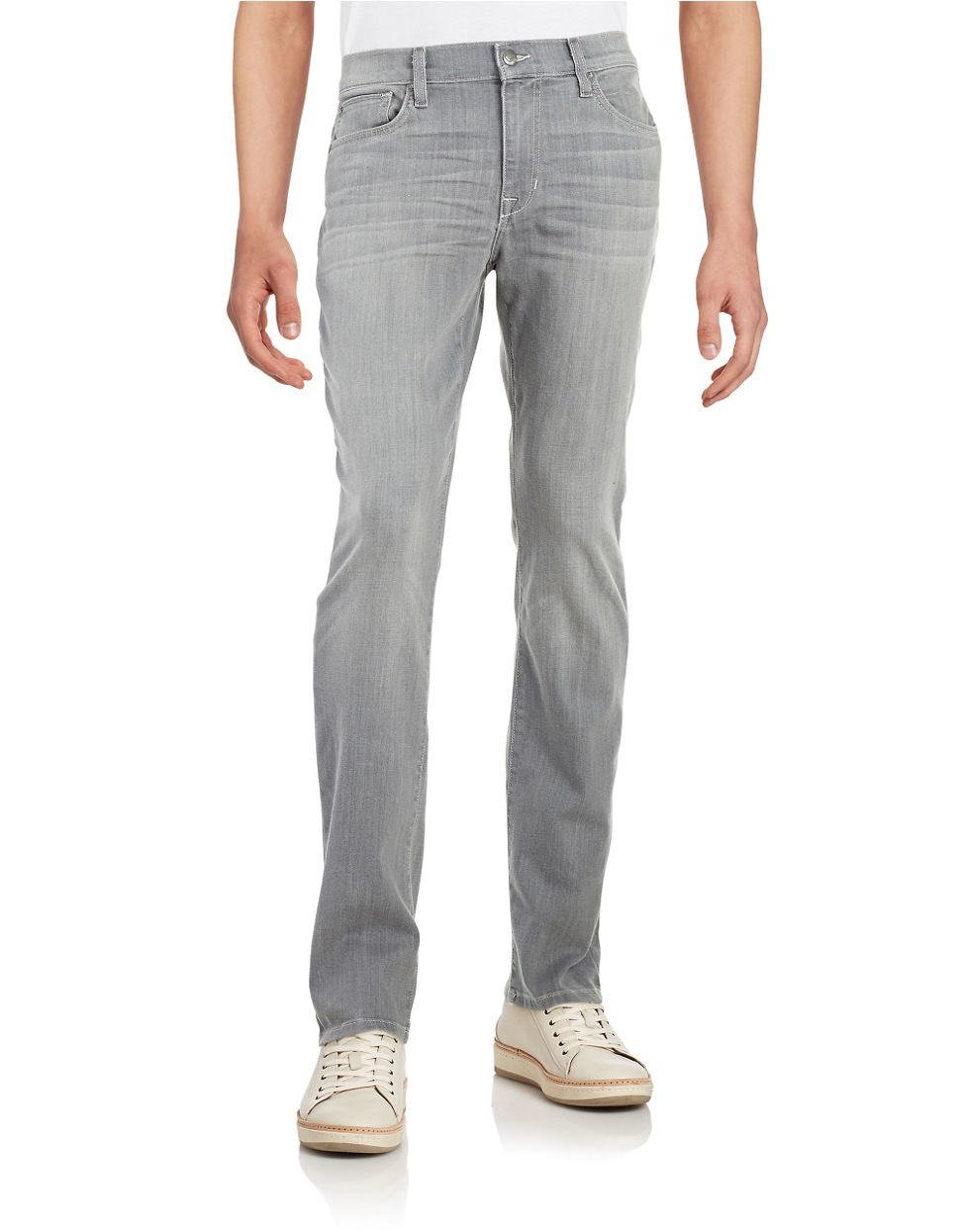 lyst joe 39 s jeans straight fit jeans in gray for men. Black Bedroom Furniture Sets. Home Design Ideas