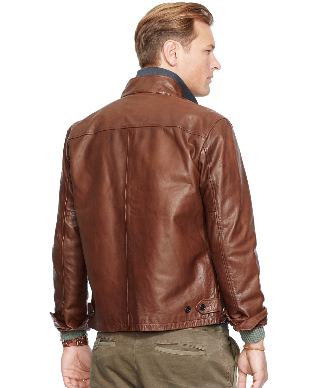 87ddda105 Polo Ralph Lauren Big And Tall Leather Barracuda Jacket in Brown for ...