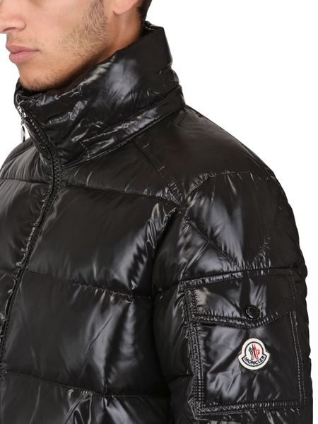 Moncler Maya Shiny Nylon Down Jacket In Black For Men Lyst