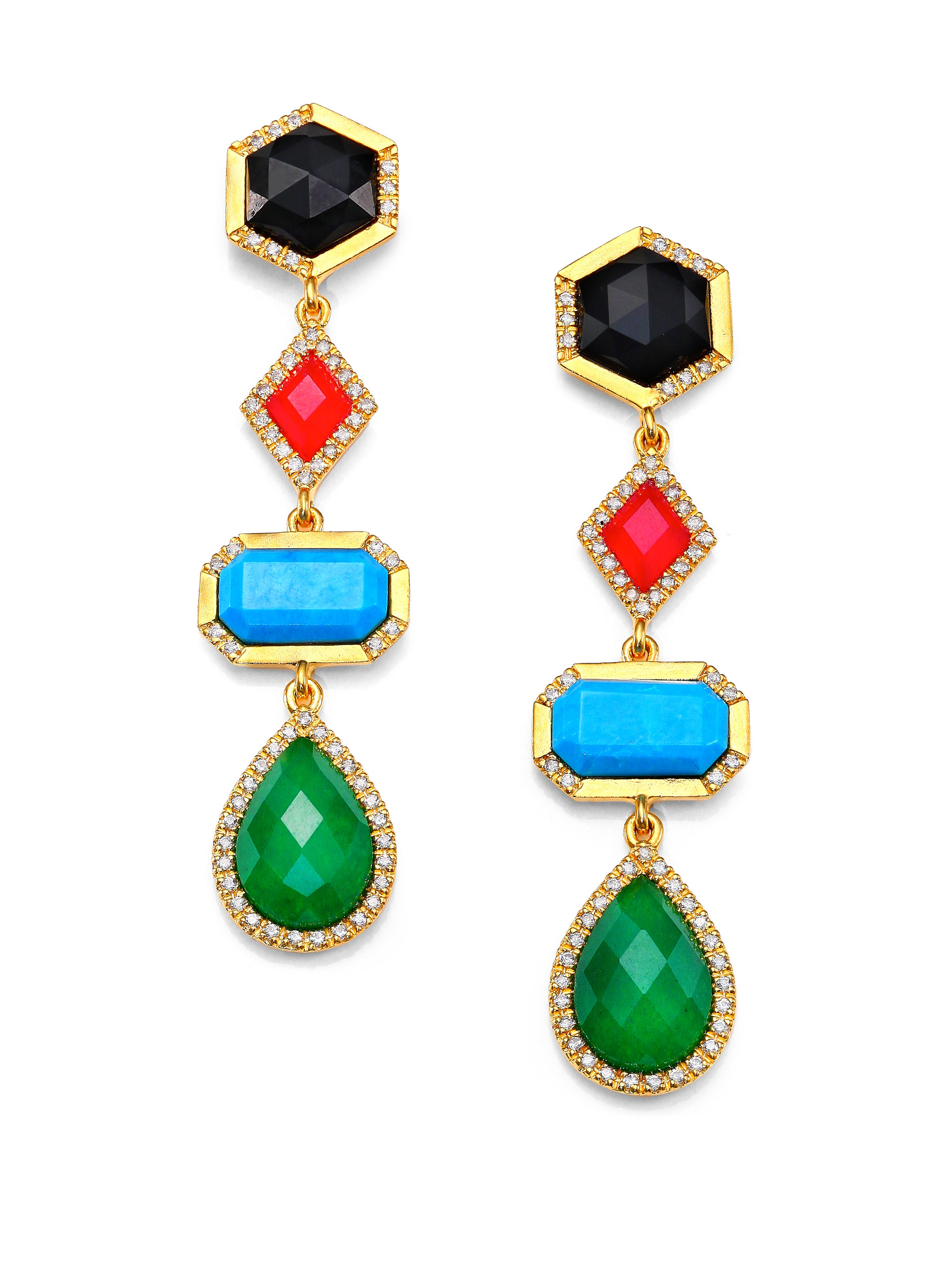 with and multi coloured gemstones earrings google irene fine jewelry colourful multicolor neuwirth diamonds pinterest search gemstone pin