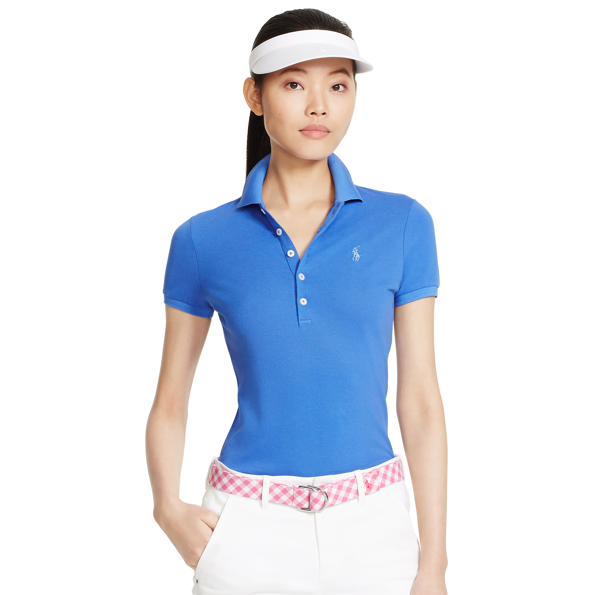 ralph lauren golf slim fit cotton mesh polo in blue lyst. Black Bedroom Furniture Sets. Home Design Ideas