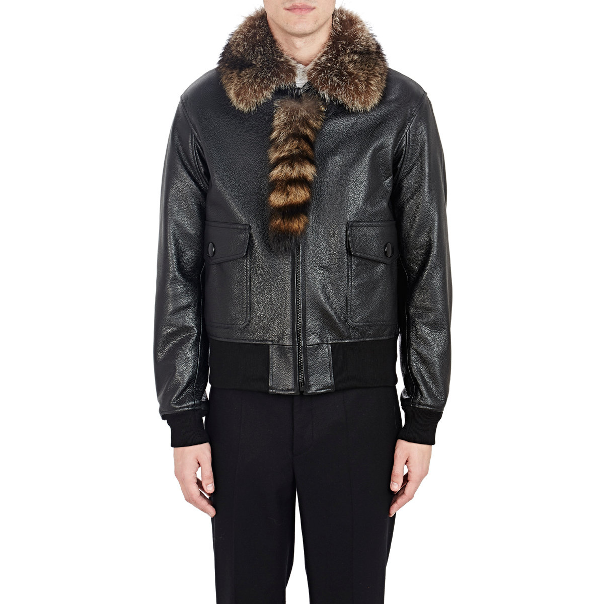 Gallery - Givenchy Fur-collar Leather Bomber Jacket In Black For Men Lyst