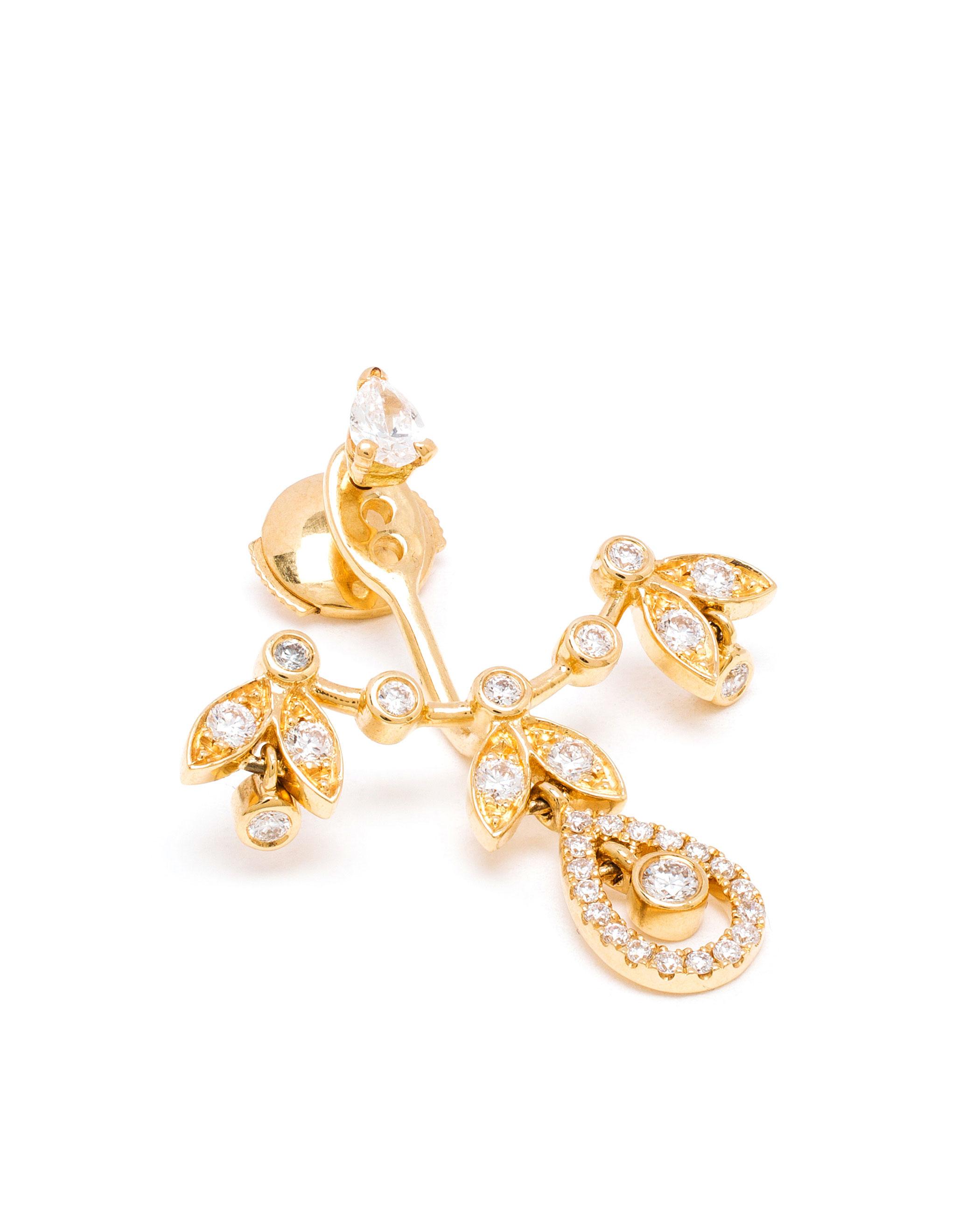 Yvonne Léon 18k gold and diamond ear cuff - Metallic BkhpoC