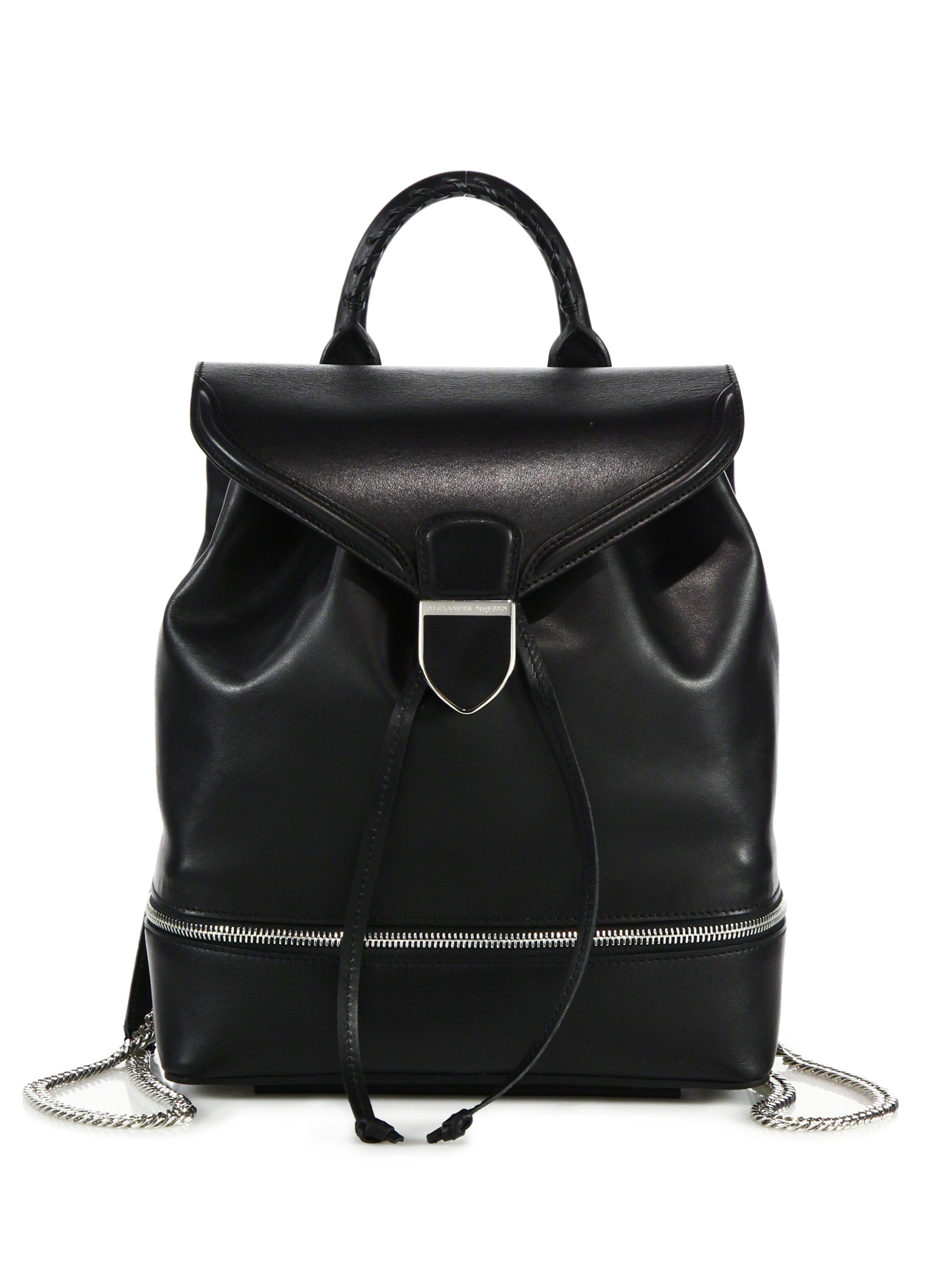 Leather backpack Alexander McQueen tjRcVJ94g