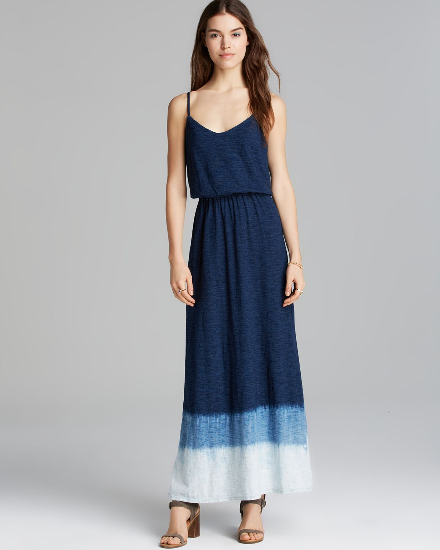 Splendid Maxi Dress - Indigo Dip Dye in Blue  Lyst