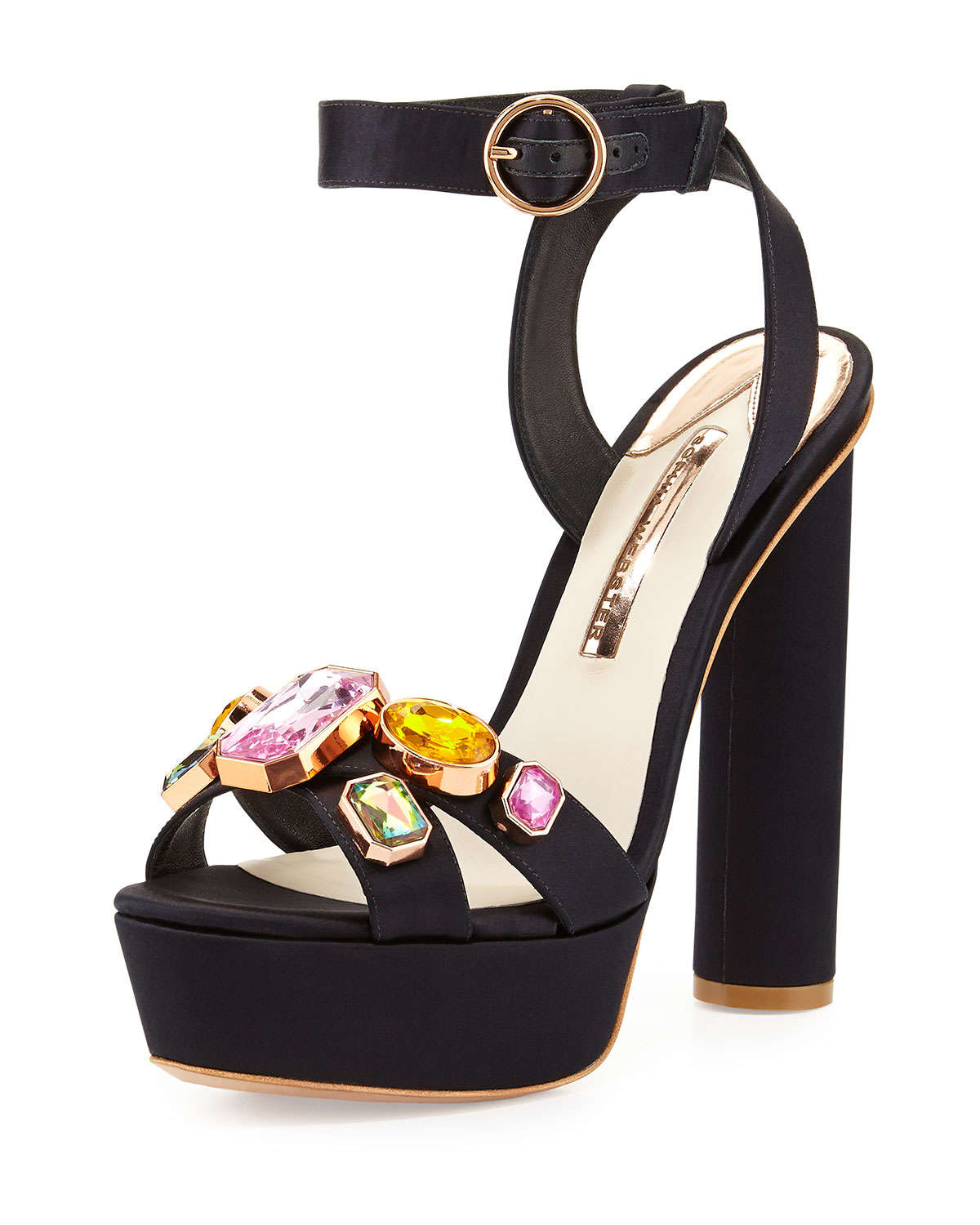 Lyst Sophia Webster Amanda Gem Platform Sandal In Black