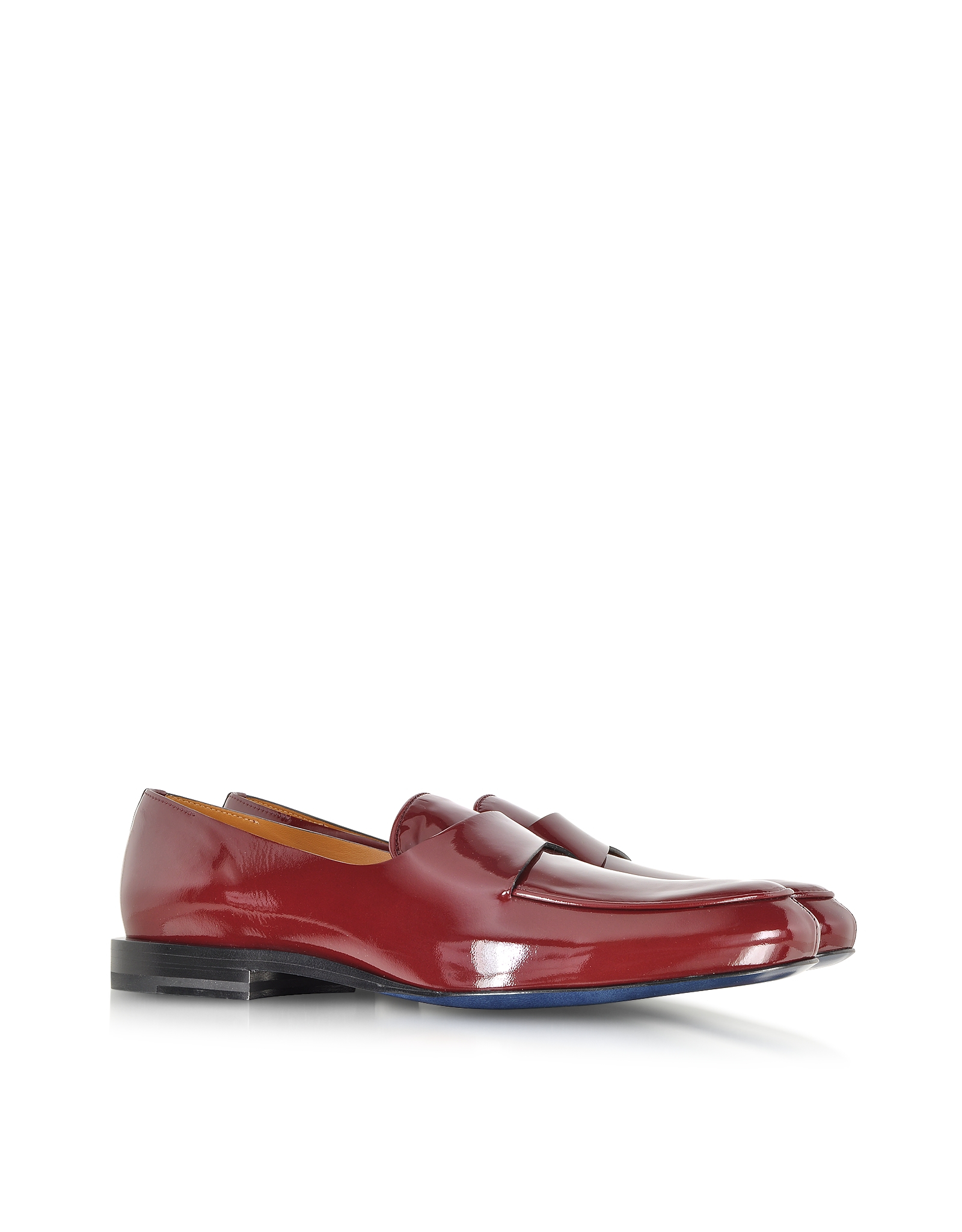 2a141b74e29 Lyst - Jil Sander Burgundy Patent Leather Loafer in Purple for Men