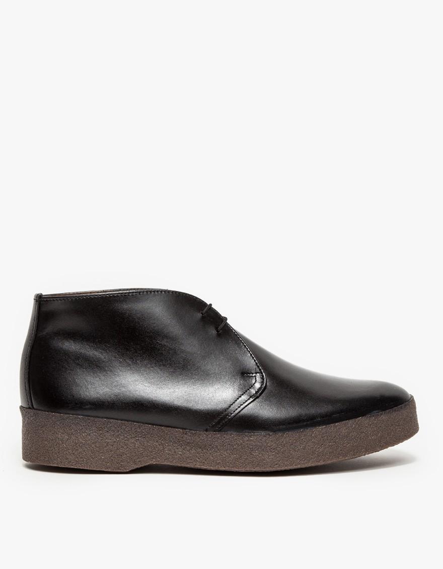 sanders hi top chukka boot in black for lyst