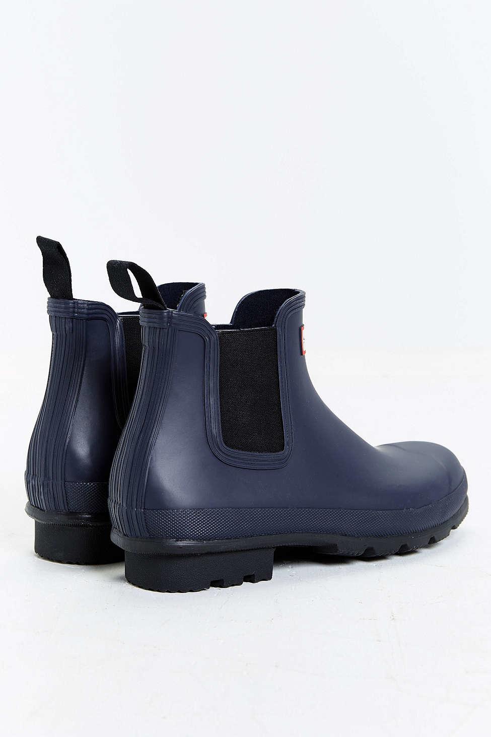 hunter original chelsea boot in blue for men lyst. Black Bedroom Furniture Sets. Home Design Ideas