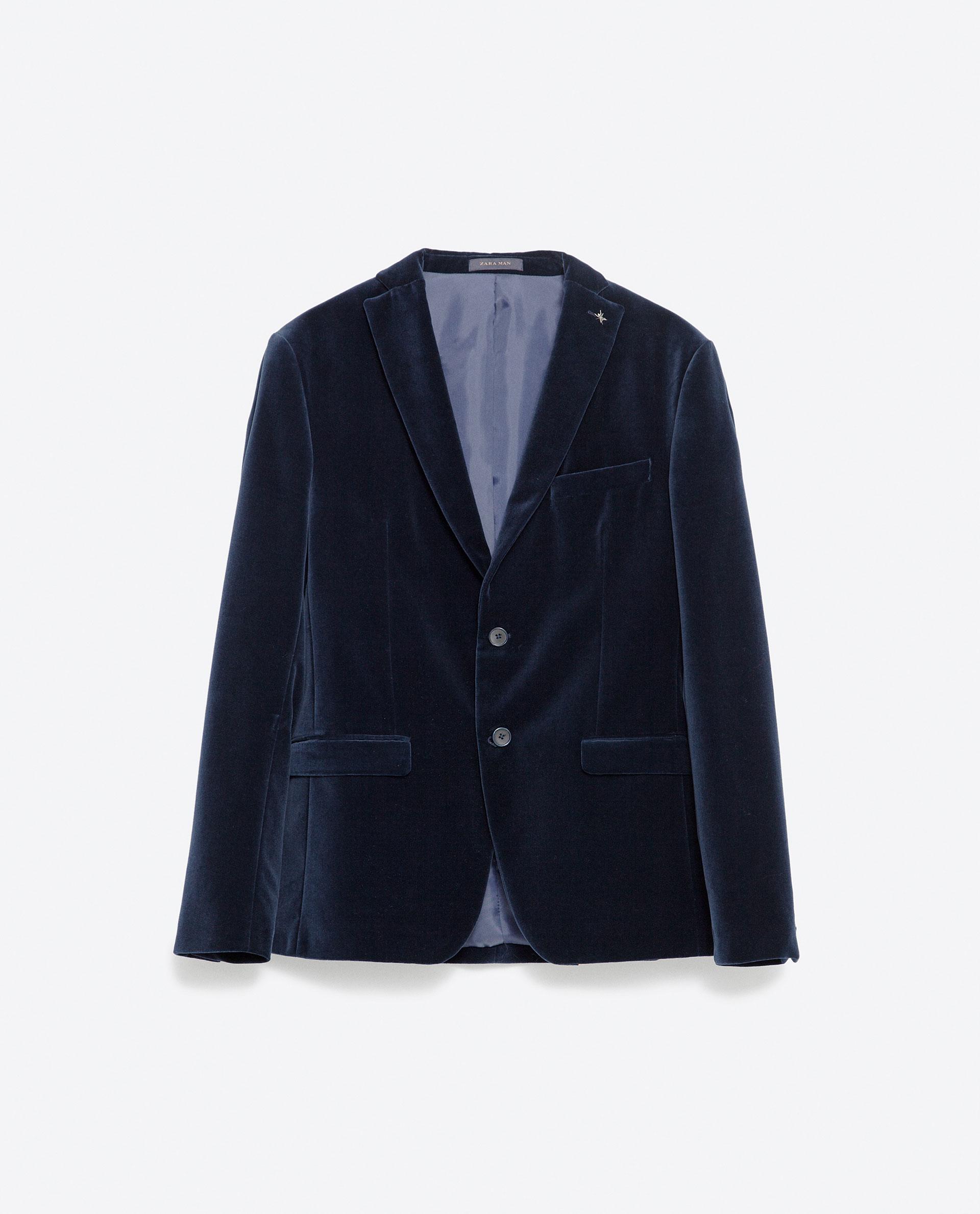 Blue Velvet Blazer Men Zara | Www.imgkid.com - The Image Kid Has It!