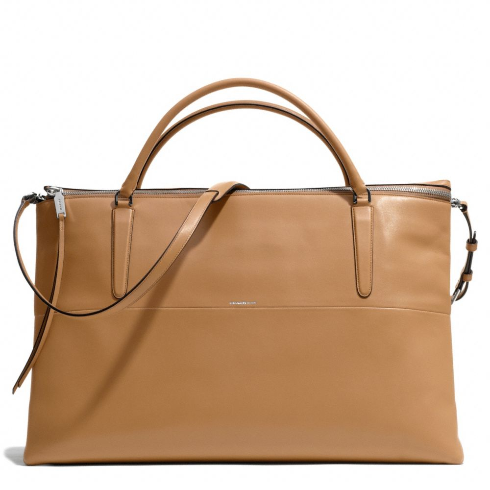coach the weekend borough bag in retro glove leather