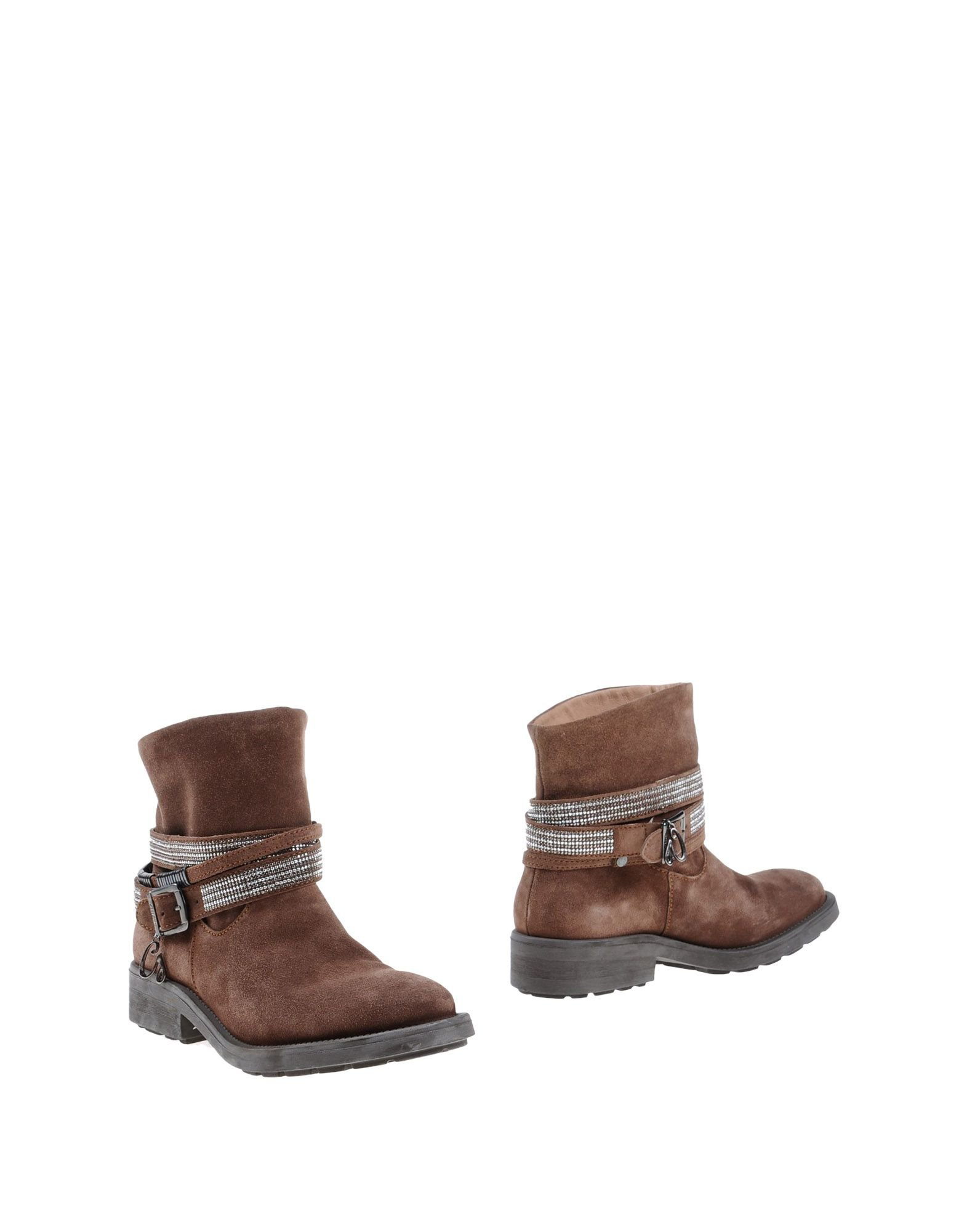guess ankle boots in brown lyst
